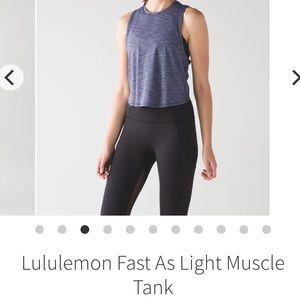 Lululemon Fast as Light Muscle Tank